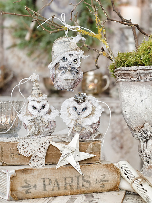 Ornament Owls Set of 3