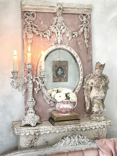 Chippy-Old Pink Wall Mirror