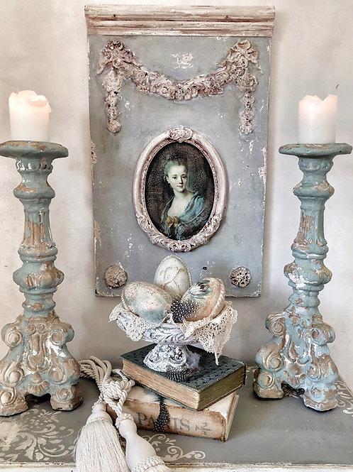 Stunning Framed Portrait of 18th Century Lady