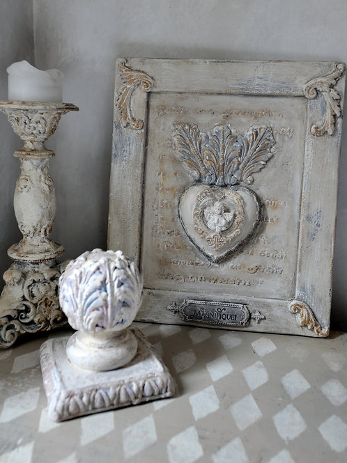 Antique Style Decoration Wall Panel with Heart