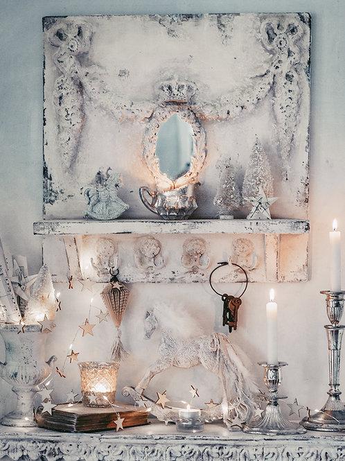 French style shelf with hooks