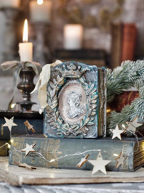 Cameo Medallion Secret Book Box