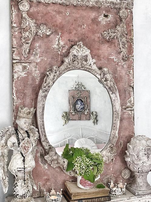 Pink Mirror with Cherubs