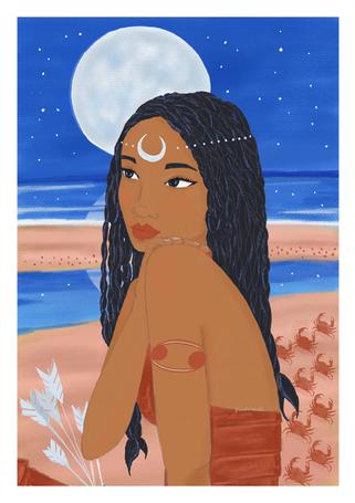 Femme Cancer - astro illustration