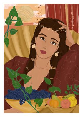 Femme Taureau - astro illustration