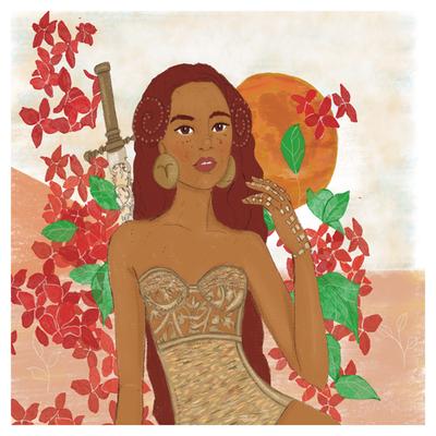 Femme Bélier - astro illustration