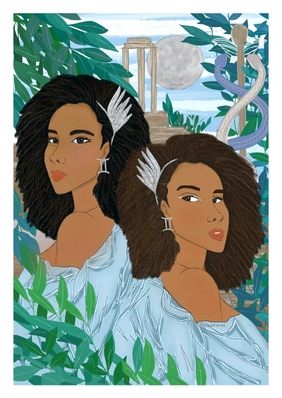 Femmes Gémeaux - astro illustration