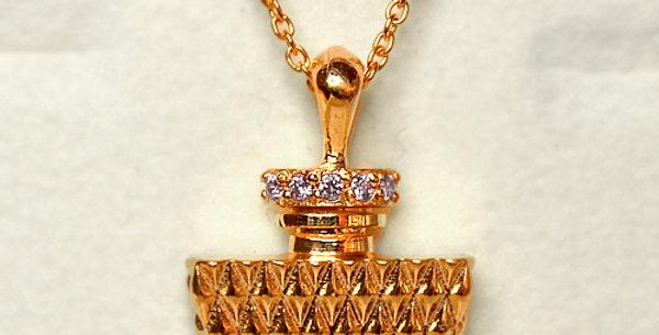 パフューム ダイヤモンドペンダントネックレス  K18PG(18金ピンクゴールド)
