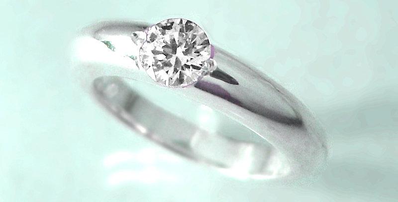 ベビーリング 4月誕生石ダイヤモンド SV925(シルバー)