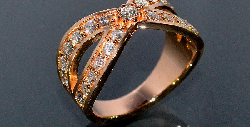 jewelinity ジュエリニティ インターセクト ダイヤモンドリング  K18PG(18金ピンクゴールド)