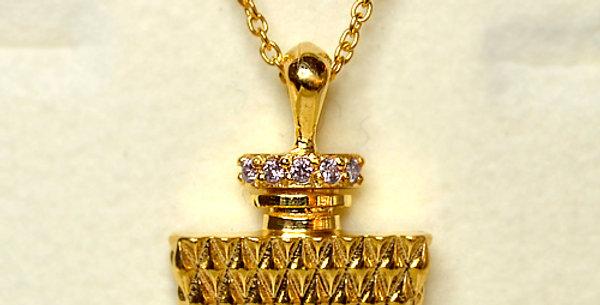 パフューム ダイヤモンドペンダントネックレス K18YG(18金イエローゴールド)