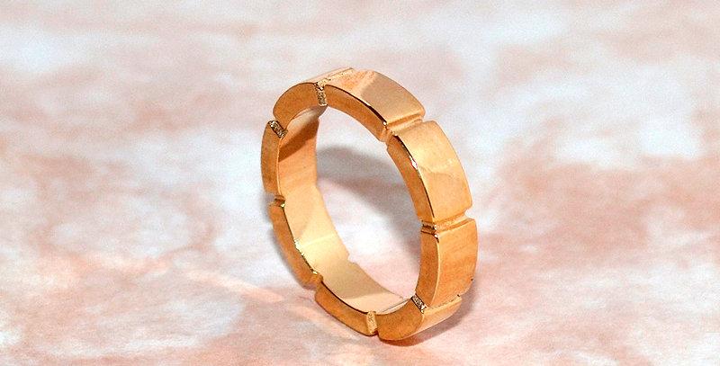 jewelinity ジュエリニティ エイトブロックリング K18PG(18金ピンクゴールド)
