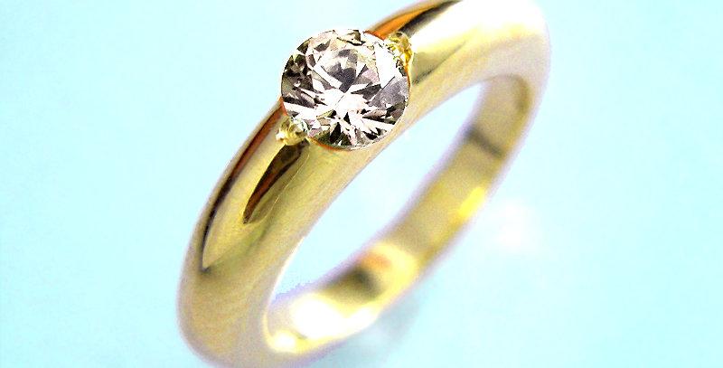 ベビーリング 4月誕生石ダイヤモンド K10YG(10金イエローゴールド)