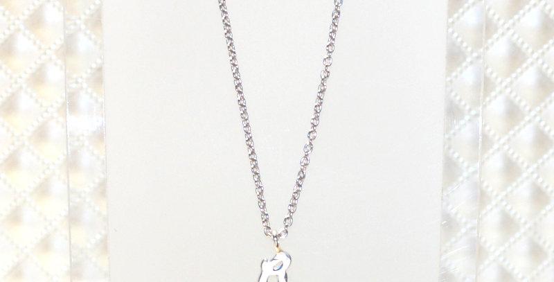 【G】イニシャルペンダントネックレス  スターリングシルバー(SV925)