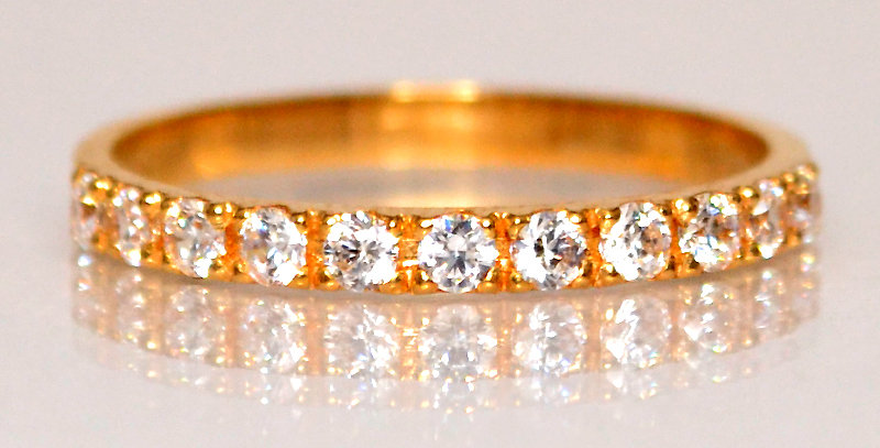 4月誕生石ダイヤモンド ハーフエタニティリング K18PG(18金ピンクゴールド)
