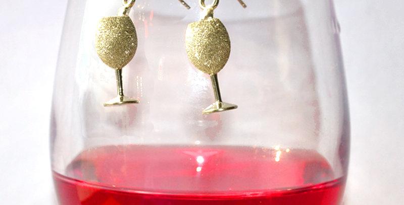 スパークリングワイン スターダストピアス  スターリングシルバー(SV925)