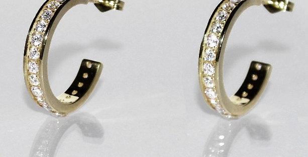 ダイヤモンドフープピアス K18WG(18金ホワイトゴールド)