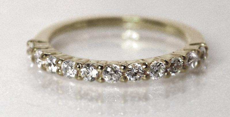 ダイヤモンドハーフエタニティリング K18WG(18金ホワイトゴールド)