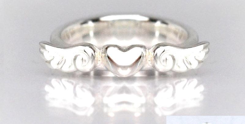 エンジェルハートのベビーリング 4月誕生石ダイヤモンド SV925(シルバー)