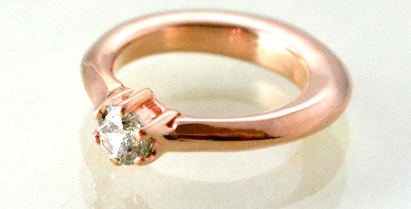 エンゲージタイプのベビーリング 4月誕生石ダイヤモンド K10PG(10金ピンクゴールド)