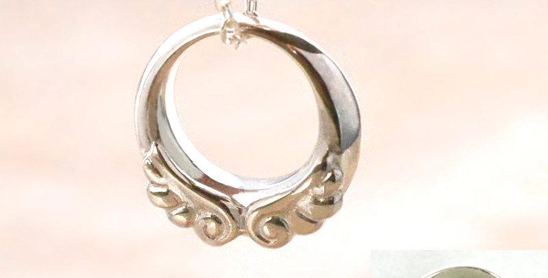 天使のベビーリング<ペンダントタイプ> 4月誕生石ダイヤモンド pt900(プラチナ)