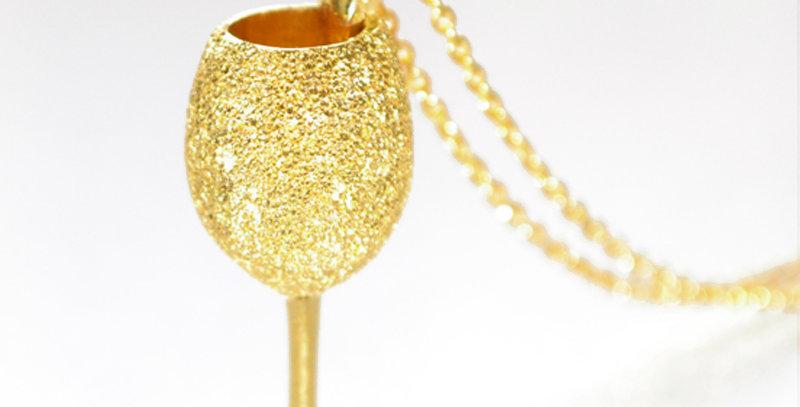 スパークリングワイン ペンダントネックレス  スターダスト  K10YG(10金イエローゴールド)