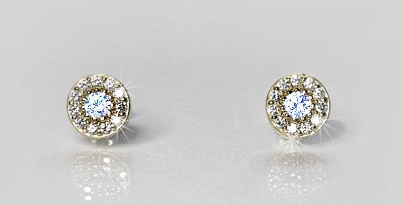 【6月誕生石ブルームーンストーン&ダイヤモンド】 ストーンサークルピアス K18WG(18金ホワイトゴールド)