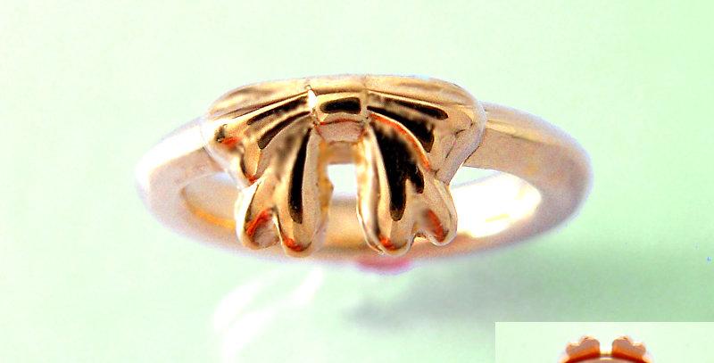 リボンのベビーリングC 4月誕生石ダイヤモンド K10PG(10金ピンクゴールド)