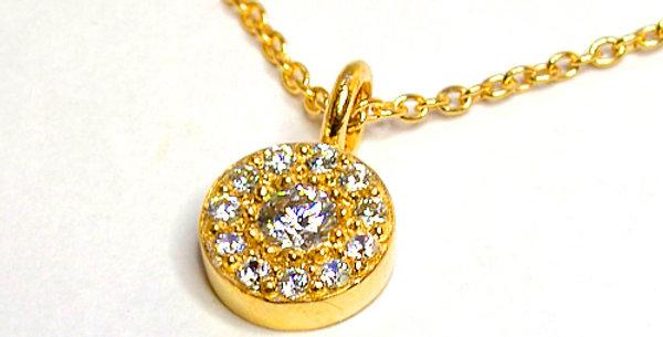 ストーンサークル ダイヤモンドペンダントネックレス K18YG(18金イエローゴールド)