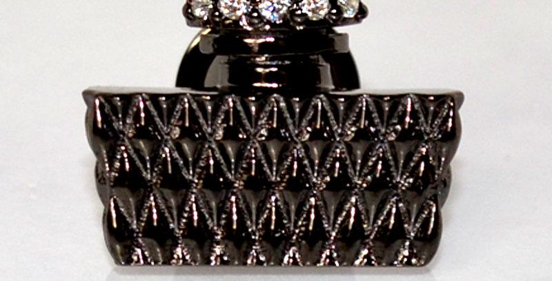 パフュームラペルピン スターリングシルバー(SV925) 【all black】