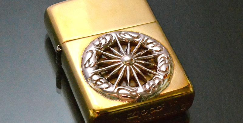 SVルーン(L)付き ARMOR zippo(brass)