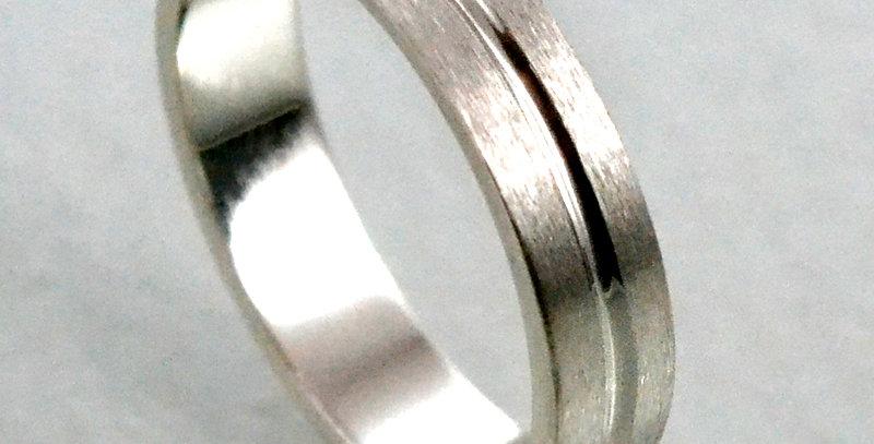 ONELINE平打ちリング つや消し(マット加工) pt900(プラチナ)
