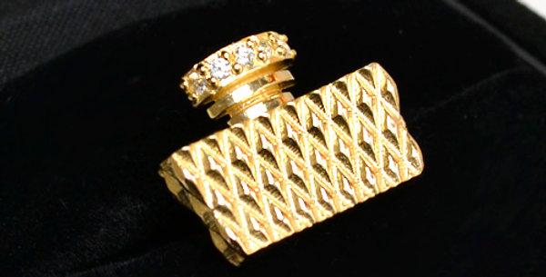 ダイヤモンドパフュームラペルピン K18YG(18金イエローゴールド)