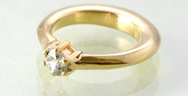 エンゲージタイプのベビーリング 4月誕生石ダイヤモンド K10YG(10金イエローゴールド)