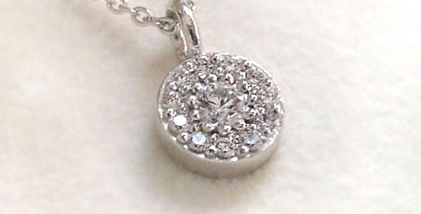 ダイヤモンドサークルペンダントネックレス K18WG(18金ホワイトゴールド)
