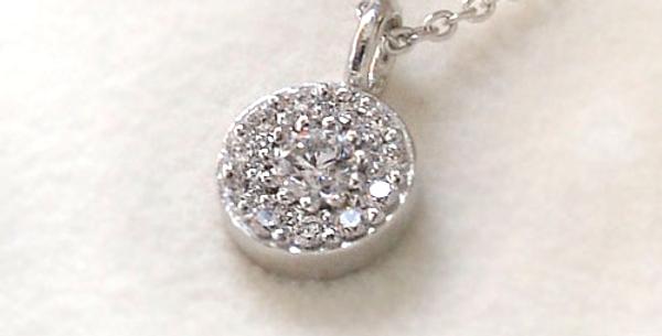ダイヤモンドサークルペンダントネックレス Pt900(プラチナ)