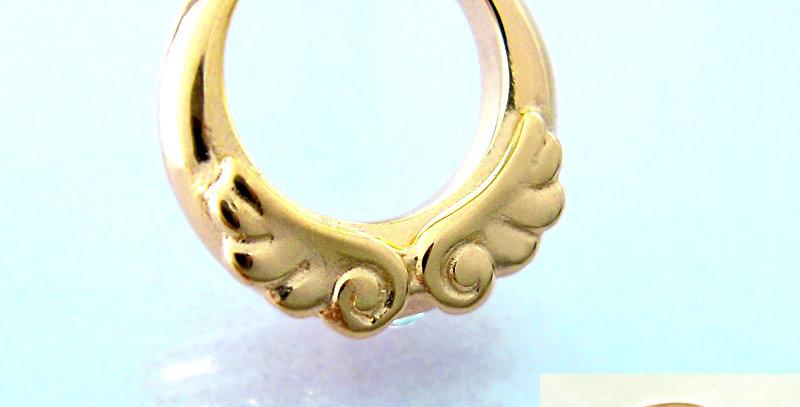 天使のベビーリング<ペンダントタイプ> 4月誕生石ダイヤモンド K10YG(10金イエローゴールド)