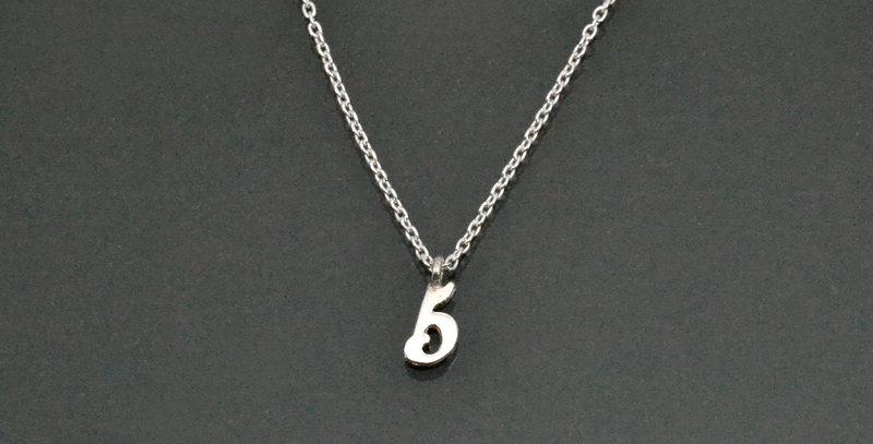 数字ナンバー『5』ペンダントネックレス スターリングシルバー(SV925)