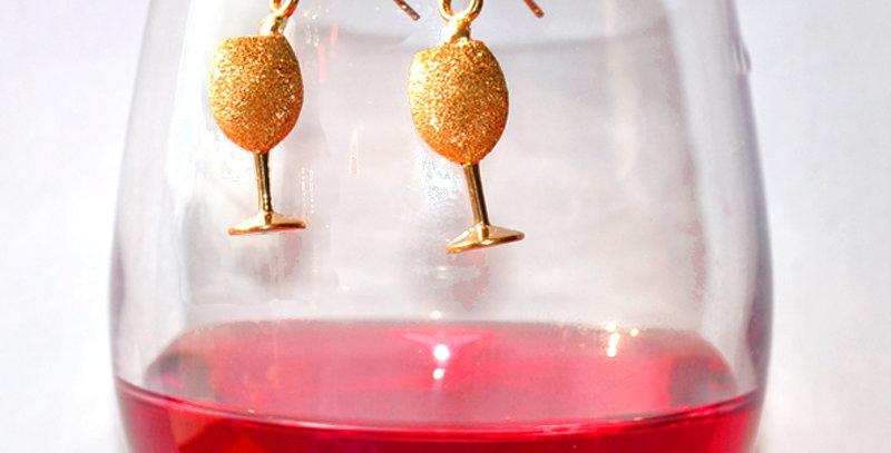 スパークリングワイン スターダストピアス  K18PG(18金ピンクゴールド)
