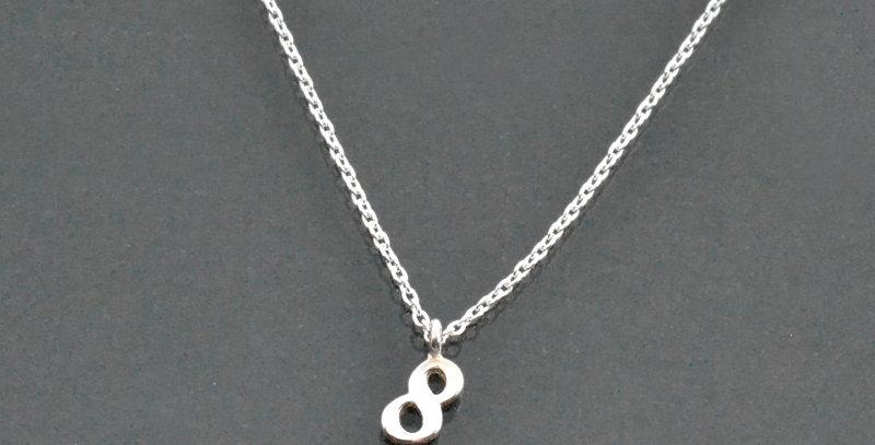 数字ナンバー『8』ペンダントネックレス スターリングシルバー(SV925)
