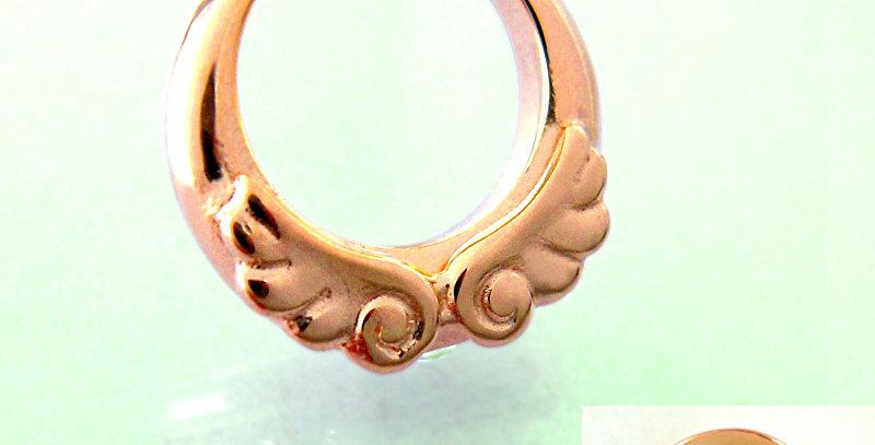 天使のベビーリング<ペンダントタイプ> 4月誕生石ダイヤモンド K10PG(10金ピンクゴールド)
