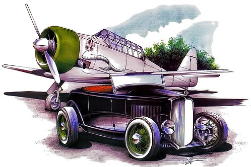 Roadster with Plane POS-323