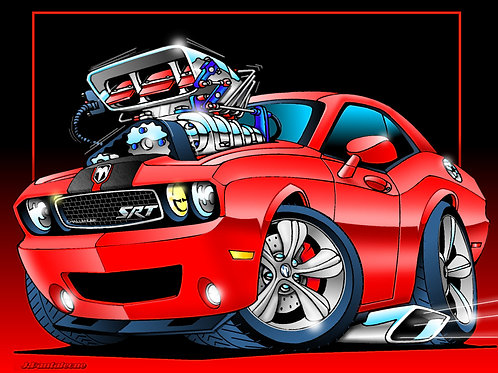 DODGE CHALLENGER SRT HEMI HOT ROD JPMC28
