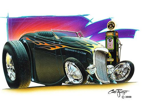 FOREVER Black Flamed Roadster CF11