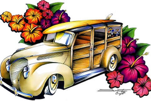 1938 HIBISCUS WOODY WAGON HOT ROD SS337