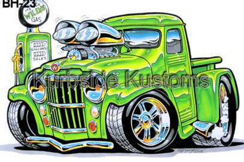BLOWN WILLYS TRUCK HOT ROD BH23