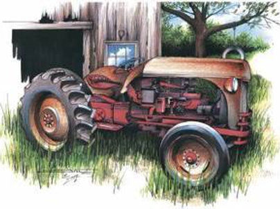 T-SHIRT FARM TRACTOR CLASSIC DIESEL RANCH ART SS305