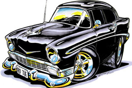 56 CHEVY HOT ROD BH82