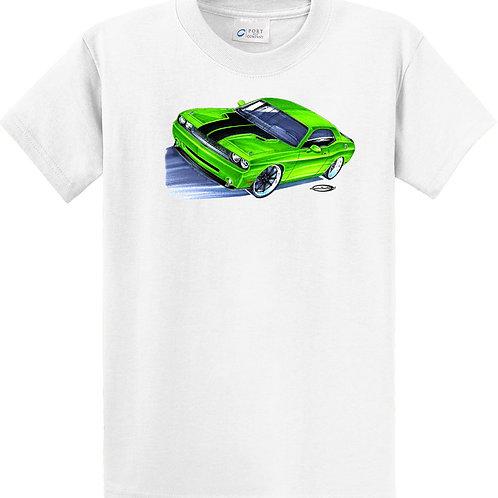 GREEN HEMI CHALLENGER MUSCLE CAR HOT ROD JR8
