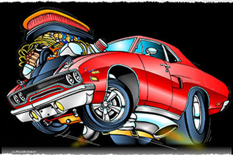 HOT ROD ART BY PANTALEONE PLYMOUTH ROAD RUNNER JPMC44